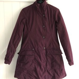 Deep eggplant colored coat